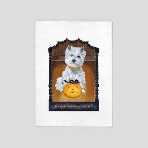 Westie Terrier Halloween 5'x7'Area Rug
