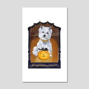 Westie Terrier Halloween 20x12 Wall Decal