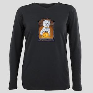 Westie Terrier Halloween Plus Size Long Sleeve Tee