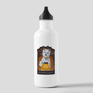 Westie Terrier Hallowe Stainless Water Bottle 1.0L