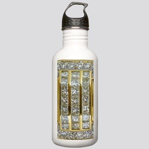 Yellow Gold and Diamon Stainless Water Bottle 1.0L