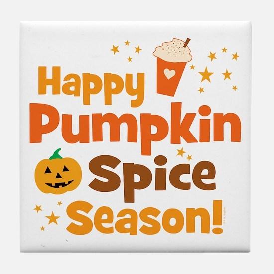 Happy Pumpkin Spice Season Tile Coaster