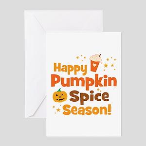 Happy Pumpkin Spice Season Greeting Card
