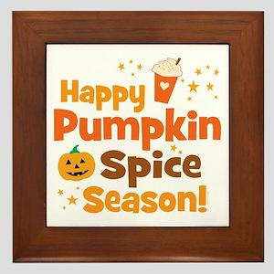 Happy Pumpkin Spice Season Framed Tile