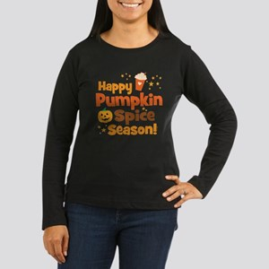 Happy Pumpkin Spi Women's Long Sleeve Dark T-Shirt