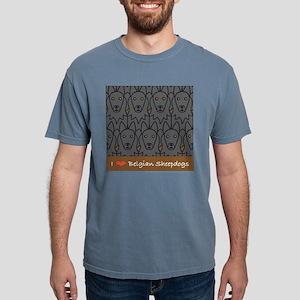 I Love Belgian Sheepdogs Women's Dark T-Shirt