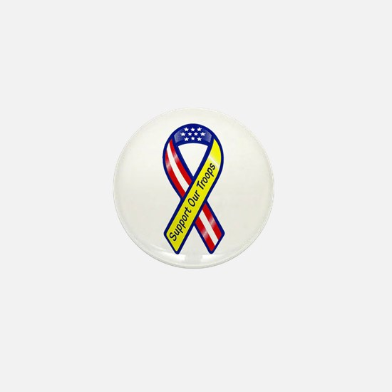 Support Our Troops Ribbon Mini Button