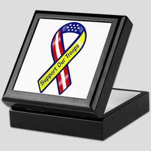 Support Our Troops Ribbon Keepsake Box