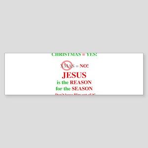 Jesus Christmas Bumper Sticker