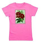 Vintage Flower Print Girl's Tee