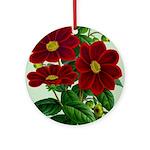 Vintage Flower Print Round Ornament