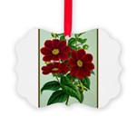 Vintage Flower Print Picture Ornament