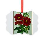 Vintage Flower Print Picture Ornament