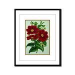 Vintage Flower Print Framed Panel Print