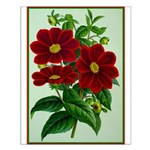 Vintage Flower Print Small Poster
