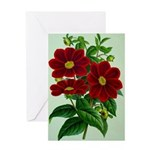 Vintage Flower Print Greeting Cards