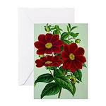 Vintage Flower Print Greeting Cards