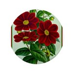 Vintage Flower Print Button