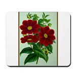 Vintage Flower Print Mousepad
