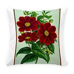 Vintage Flower Print Everyday Pillow