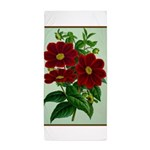 Vintage Flower Print Beach Towel