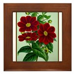 Vintage Flower Print Framed Tile