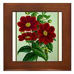 Vintage Flower Print Framed Tile