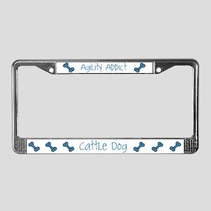 Cattle Dog Agility Artwork License Plate Frame
