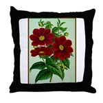 Vintage Flower Print Throw Pillow