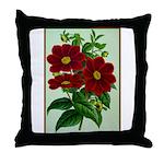 Vintage Flower Print Throw Pillow
