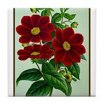 Vintage Flower Print Tile Coaster
