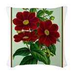 Vintage Flower Print Woven Throw Pillow