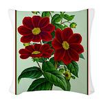 Vintage Flower Print Woven Throw Pillow