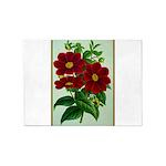 Vintage Flower Print 5'x7'Area Rug