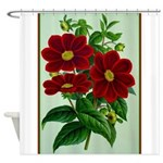 Vintage Flower Print Shower Curtain