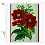 Vintage Flower Print Shower Curtain