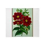 Vintage Flower Print Throw Blanket