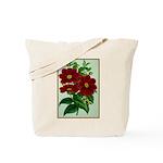 Vintage Flower Print Tote Bag