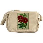 Vintage Flower Print Messenger Bag