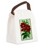 Vintage Flower Print Canvas Lunch Bag