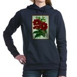 Vintage Flower Print Women's Hooded Sweatshirt