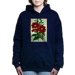 Vintage Flower Print Women's Hooded Sweatshirt