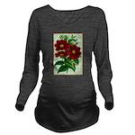Vintage Flower Print Long Sleeve Maternity T-Shirt