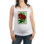 Vintage Flower Print Maternity Tank Top