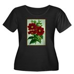 Vintage Flower Print Plus Size T-Shirt