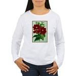 Vintage Flower Print Long Sleeve T-Shirt