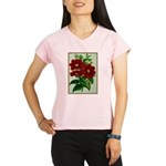 Vintage Flower Print Performance Dry T-Shirt
