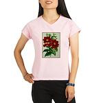 Vintage Flower Print Performance Dry T-Shirt