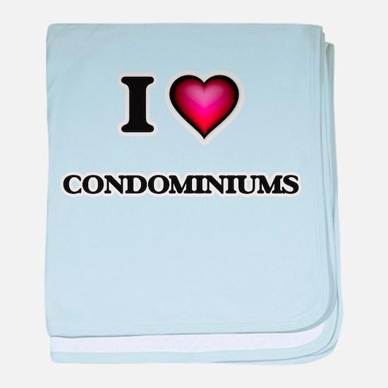 I love Condominiums baby blanket