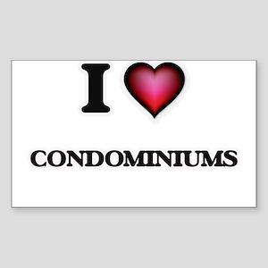 I love Condominiums Sticker